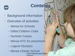 czech mensa and gifted children slide 2