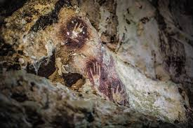 stencils like these in the cave of fingers were made by placing the palm against the rock and blowing mouthfuls of paint over it justin mott