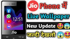 Jio phone me live wallpaper update,jio ...