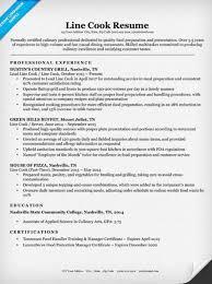 Line Cook Resume Sample Free Resume Templates 2018