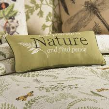 Althea Cotton Butterfly Dragonfly Quilt Bedding & Althea Embroidered Rectangle Pillow Eggshell Adamdwight.com