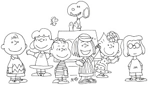Small Picture Charlie Brown Thanksgiving Coloring Page Free Printable For