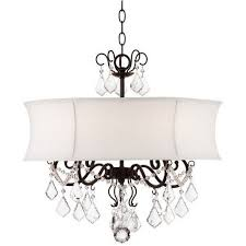 zula white shade 22 wide crystal chandelier dining room blue dining rooms chandelier