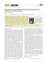 Learn about the different types of chemical reactions and get examples of the reaction types. Integrating Particulate Representations Into Ap Chemistry And Introductory Chemistry Courses Topic Of Research Paper In Educational Sciences Download Scholarly Article Pdf And Read For Free On Cyberleninka Open Science Hub