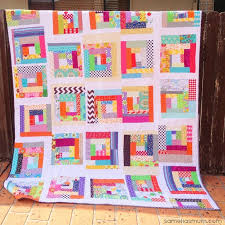 45+ Easy Quilt Patterns for Beginners | AllFreeSewing.com & Fabric Scraps Quilt Adamdwight.com