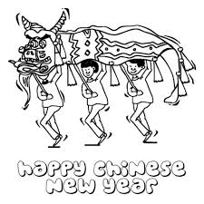 Small Picture Lion Dance Chinese New Year Coloring Pages New Year Coloring