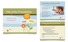 - School Presentation Powerpoint Child Development Template