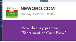 What Is A Cash Flow Report Quickbooks Online Statement Of Cash Flow Report Step By Step