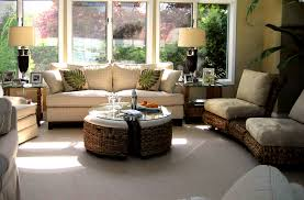 Round Rattan Ottoman Coffee Table Furniture Elegant Interior And Exterior Furniture Design By