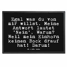 40 X 60 Fußmatte Einhorn Liebe Unicorn Spruch Lustig Witzig