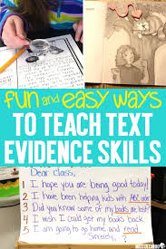 How To Teach Text Evidence Skills To Primary Readers Miss