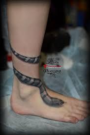 татуировка змея вокруг ноги Tattoo Tattooedgirls Tattooflash
