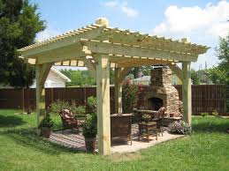 patio with fire pit and pergola. Lowes Pergola Plans Most Magnificent Design Birch Polished Finish Wooden Posts Crossbeams Rafters Battens Support Gussets Fire Pit Patio Decoration With And E