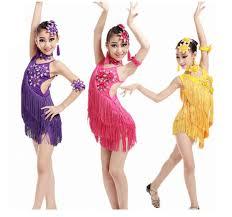 Adult/Child Latin <b>Dance</b> Sequin Fringe <b>Dress</b> Women/<b>Girls Stage</b> ...