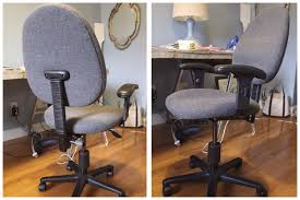 reupholstering an office chair. But I Snagged This Office Chair From Our Local Restore For $10 So In The Interest Of Budget Had To Try Out My First \u201creupholstery\u201d Job If You Will. Reupholstering An
