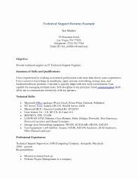 Resume Format For Technical Jobs Inspirational Resume Format For