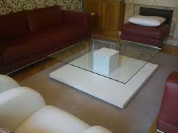 furniture square transpa glass adjule coffee table ikea with square white wooden buffer base on