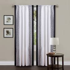 Plain Black And White Curtains Awesome To Decorating
