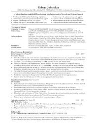 System Administrator Resume Example Network Template Word Operations