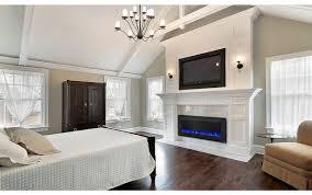 wall paramount slim mounted fireplace self deep slimline electric premium latitude linear napoleon inch allure mount