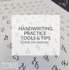 How To Practice Penmanship Handwriting Practice And Tools Free Downloads