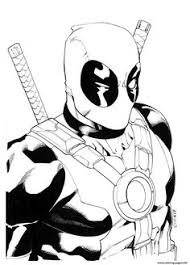 Small Picture deadpool coloring pages Creative Commons Attribution