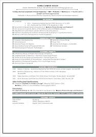 Resume Templates For Engineers Adorable Sample Resume Cv Format Sample Resume Format Best Examples For