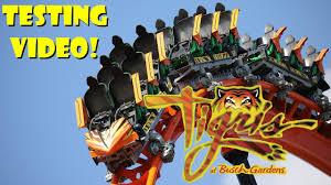 tigris roller coaster at busch gardens ta bay testing video