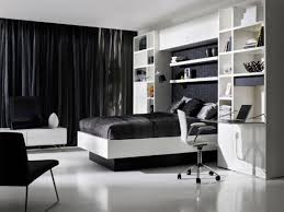 black Murphy Bed with white wooden couch plus white wooden