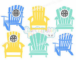 adirondack chair silhouette. Adirondack Beach Chair Svg, Summer SVG Monogram Frame, Ocean Design, Silhouette M