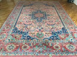 stunning karastan 100 wool pile rug medallion serapi 8 8 x 12 area rug