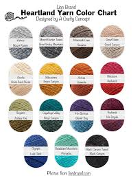 Lion Brand Yarn Free Color Charts