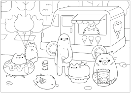 Pusheen The Cat Book Pageshtml Template Design