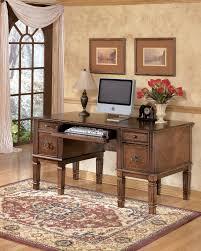 office home desks. Hamlyn - Medium Brown Home Office Storage Leg Desk Desks