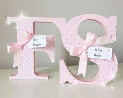 Decorated Wooden Letters - Nursery Letters - Name Letters - Nursery Decor -  New Baby -