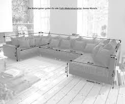 Couch Clovis Xl Weiss Schwarz Modulsofa Hocker Armlehne