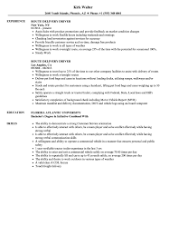 Delivery Driver Resume Perfect Resume