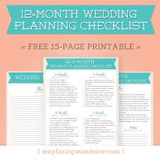 complete wedding checklist wayfaring wanderer 12 month wedding planning checklist free