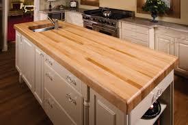 butcher block chop block countertops as types of countertops