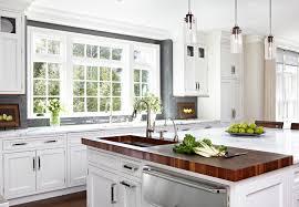 image of butcher block kitchen island sink
