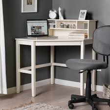 minimalist white painted pine wood laptop desk with small hutches delightful white computer desk with