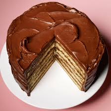 Yellow Layer Cake With Chocolate Sour Cream Frosting Recipe