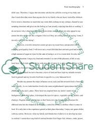 Food Autobiography Essay Example Topics And Well Written