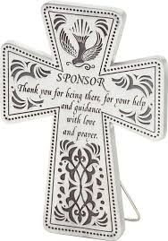 what a great gift idea for a confirmation sponsor a cross with a special thank you note written right on it confirmation confirmation