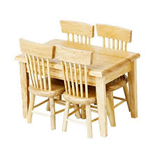 wooden dining table. Exellent Table Lowpricenice 5pcs Wooden Dining Table Chair Model Set 112 Dollhouse  Miniature Furniture And A