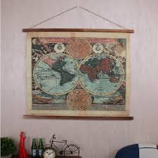 americal industrial style retro linen cloth tapestry 106 86cm antique treatment world map pattern on antique cloth wall art with americal industrial style retro linen cloth tapestry 106 86cm