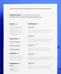 Copywriter Cv Resume Design Howard Moon Professional