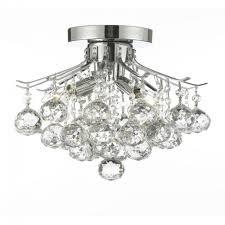null empire crystal 4 light chrome flush mount chandelier with exquisite flush mount chandelier for your