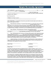 Sample Partnership Agreement Form 43 Printable Limited Partnership Agreement Forms And