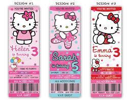 Hello Kitty Invitation Printable Hello Kitty Birthday Party Ticket Invitations Printable File